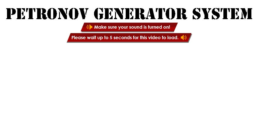 The Petronov Generator System Customer Reviews