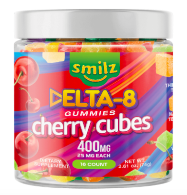 Smilz Delta-8 Gummies Cherry Cubes Review