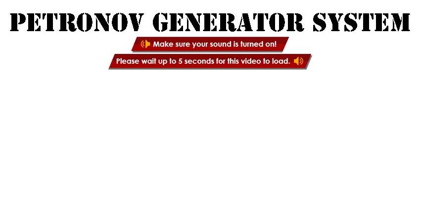The Petronov Generator System Customer Reviews
