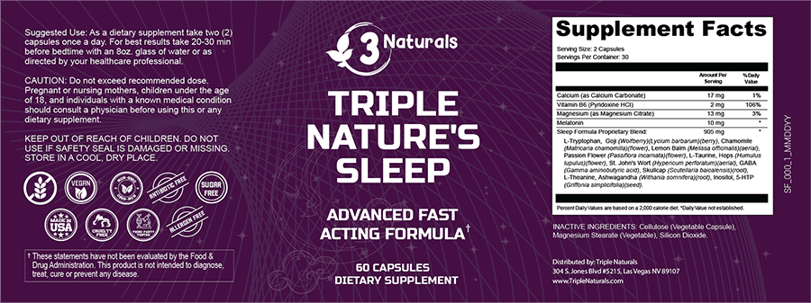 Triple Nature's Sleep Ingredients